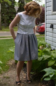 #MMMay15 Day 24, only one week to go. Top is vintage 1964 #McCalls 7584 in cotton shirting and culottes are #Butterick 6178 in cotton mini check from #HabermanFabrics. Wanted an outfit for a leisurely bike ride.
