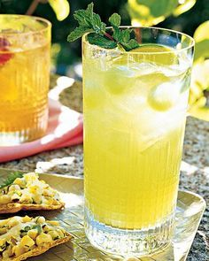 Honeydew Mojitos with Melon Balls & Mint