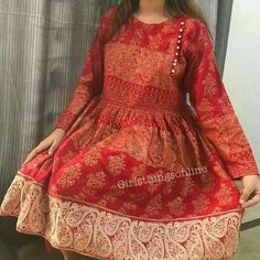 Ethanic see aware Pakistani Frocks, Simple Pakistani Dresses, Pakistani Fashion Casual, Pakistani Dress Design, Pakistani Outfits, Indian Outfits, Stylish Dress Designs, Stylish Dresses For Girls, Designs For Dresses