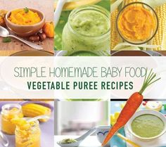 Scroll down to find the recipes for a variety of nutritiously-dense and delicious vegetable purees to get you started on your baby's journey to loving vegetables. Welcome to the wonderful world of feeding your baby solid foods! Will you be making your own purees... #baby #babyfoodguide #babypuree