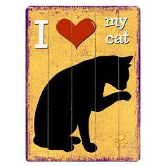 I Heart My Cat Wall Sign