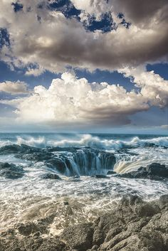 "Clouds   Ocean   Waves   "" Thor's Well by Joel Quimpo on Flickr. """