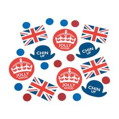 Who's ready for a smashing good time? Add this British Party Confetti to tabletops, grab a pint of your favorite ale (or age-appropriate beverage) and . Tea Party Decorations, Party Themes, Royal Baby Party, British Party, World Thinking Day, My Cup Of Tea, Party Desserts, Oriental Trading, Party Guests