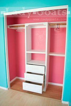 53 Ideas For Kids Room Storage Ideas Diy Closet Kid Closet, Closet Bedroom, Bedroom Decor, Closet Ideas, Bedroom Ideas, Bedroom Furniture, Furniture Layout, Diy Furniture, Master Closet