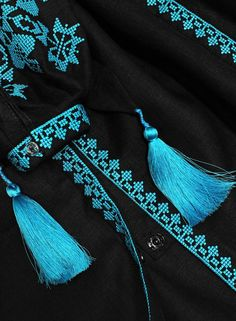 Diy Embroidery Patterns, Hand Embroidery Dress, Kurti Embroidery Design, Embroidered Lace Fabric, Hand Embroidery Videos, Border Embroidery Designs, Embroidery Fashion, Cross Stitch Embroidery, Kutch Work Designs