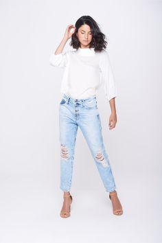 Calça Jeans Boyfriend Feminina - Damyller-smartphone 41914a54cf4