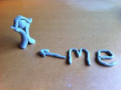 A clay model showing 'me' or 'self'. This model is used when exploring concepts such as 'change' and 'consequence'.