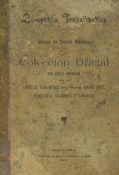 Compañía Trasatlántica ... Colección oficial de diez menús