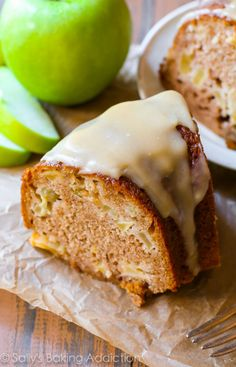 Glazed Apple Bundt Cake by sallysbakingaddiction.com. Buttery and moist homemade apple bundt cake smothered in a rich brown sugar glaze.