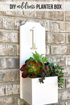 Increase your curb appeal with a modern looking DIY Address Planter Box.This project is simple to make (less than 30 minutes) and NO TOOLS are needed!
