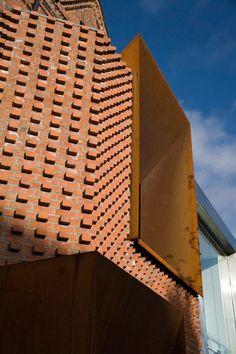 blocky bricks for house facade