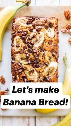 Healthy Bread Recipes, Banana Bread Recipes, Cooking Recipes, Recipes With Bananas, Banana Breakfast Recipes, Easy Brunch Recipes, Keto Recipes, Make Banana Bread, Healthy Banana Bread