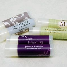 We'll make your Personalized Wedding Lip Balms