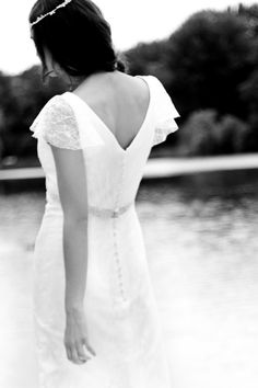 """Felicita Design: Wedding Dress """"Mafalda"""" Silk 100%, Lace, bridal gown Brautkleid """"Mafalda"""", Hochzeitskleid, Seide 100%, Spitze im Vintage-Look Hippie-Style, Hippie-Look"""