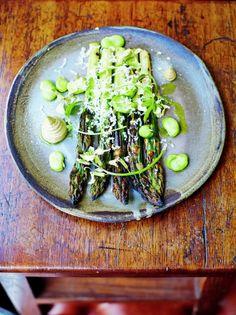 Asparagus With Mushroom Mayonnaise | Vegetable Recipes | Jamie Oliver