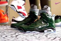 wholesale dealer e7292 97df4 scarpe da basket migliori AIR JORDAN 6 RETRO CHAMPAGNE Verde Oro 384664-350  Uomo