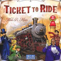 One of the most popular games ever designed, Ticket to Ride is a simple yet strategic game of connecting cities in the United States with trains. Beautiful art, and play pieces. Easy for kids 8+ to pick up but with plenty of strategy for more advanced players. Great family game!