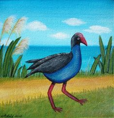 Shop for painting on Etsy, the place to express your creativity through the buying and selling of handmade and vintage goods. Nz Art, Kiwiana, Art For Kids, Arts And Crafts, Birds, Quilts, Pets, Pictures, Painting