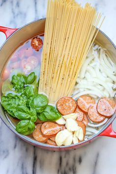 One Pot Pasta ~ The easiest, most amazing pasta you will ever make. Even the pasta gets cooked right in the pot. How easy is that?!  Great photos.