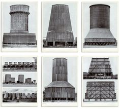 water towers, grain silos and other agri-industrial beauties at mid-century.  Bernd & Hilla Becher, photographers.
