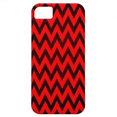 Modern and trendy iPhone 5 phone case with red and black zigzag chevron stripe pattern. Cute and unique design and a perfect cool gift idea for her / him or anyone on any occasion