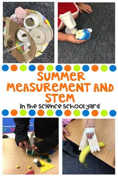 Summer Math Measurement and STEM Connections 5th Grade Science, Stem Science, Elementary Science, Elementary Education, Elementary Teacher, Science Stations, Math Measurement, Next Generation Science Standards, Math Books