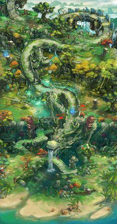 MooΝwings采集到场景地图规划(211图)_花瓣游戏