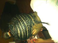 Sew-in #before (braids)