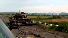 АТО,  танки стреляют по позициям террористов. Ukranian Army tanks shoots against militia