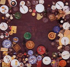 RADICAL REALISM daniel spoerri / hahn's dinner / 1964 / objects and makings of a dinner for 16 persons on wood panel