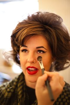 60's Makeup #retromakeup, #retrohairstyling