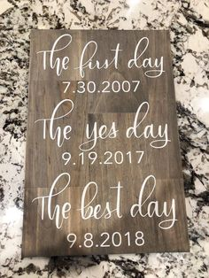 First day yes day best day wedding sign - wedding .- First day yes day best day wedding sign – wedding sign – best dates wedding sign – wedding decor – wedding date sign – engagement gift – first - Wedding Date Sign, Wedding Goals, Wedding Favors, Wedding Venues, Wedding Invitations, Wedding List, Wedding Ceremony, Wedding Quotes, Wedding Sparklers