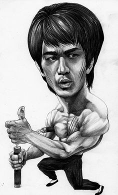 Bruce Lee caricature art