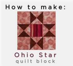 McCall's Quilting Valerie Uland and Ashley Slupe take you step-by-step through making the Ohio Star Quilt Block, with tips for making accurate quarter-square triangle units. #video #quilting #tutorial