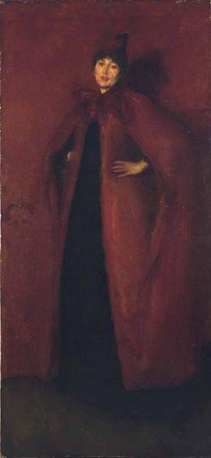James Abbott McNeill Whistler - Harmony in Red: Lamplight - Oil on canvas - 1886 - x cm x - Hunterian Art Gallery (Glasgow, United Kingdom) Glasgow, James Abbott Mcneill Whistler, Art Gallery, Free Art Prints, Singer Sargent, Manet, Art Uk, Art For Art Sake, Grey And Gold