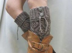 DIY: Leg Warmers/Boot Socks. Makes a cute gift!