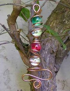 Wire wrapped marbles - what to do when you have too many small marbles!