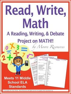 Engage Math Students in a Read, Write, & Research project that they debate!  This lesson brings Language Arts, Collaboration and Math together. This assignment is completely editable to suit your class and how you have students turn in the assignment.