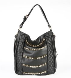 Nicki Chain Link Hobo in Black by Elise Hope $110 www.elisehope.com #handbags