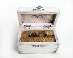Items similar to Wedding ring holder rustic, Infinity ring bearer pillows box, White wood ring bearer box, Wooden ring box, Burlap engagement ring box on Etsy Ring Bearer Pillows, Ring Bearer Box, Wooden Ring Box, Wooden Hand, Elegant Wedding Rings, Ring Holder Wedding, Pillow Box, Wood Rings, Wedding Boxes