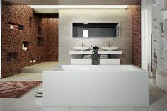 Collection de baignoires vasques et lavabos freestanding Dimasi Bathroom. MOMA DESIGN by Archiplast.  Multiples formes finitions et couleurs. À découvrir sur le stand C32 pavillon 29 au CERSAIE 2015. Sur la photo modèle PEARL en White Stonage. #amsld #momadesign #cersaie