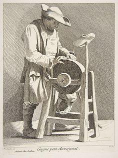 Knife Sharpener Anne Claude Philippe de Tubières, Comte de Caylus  (French, Paris 1692–1765 Paris)