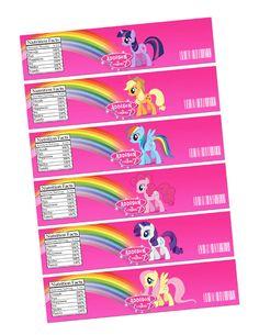DIY Printable My Little Pony Birthday Party Water Bottle Wrapper, Label 001 by sohappyshop on Etsy https://www.etsy.com/listing/202079587/diy-printable-my-little-pony-birthday