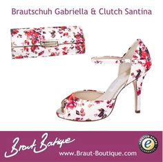 Brautschuh Gabriella & Clutch Santina
