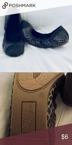 Snake skin patterned flats. Size 8.5. Grayish-brown faux snake skin patterned flats. Size 8.5. Received as gift but not my style (or size!) Price is negotiable. Shoes Flats & Loafers