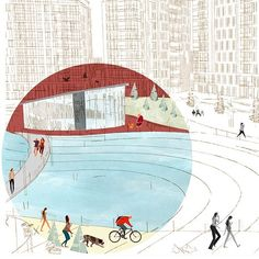/ Life In Red Circle 3 on Behance #LandscapeDrawing