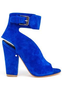 30 AMAZING New Heels You've Gotta See  #refinery29  http://www.refinery29.com/pretty-heels#slide-12  Sandals The electric-blue suede and unusual silhouette are what make this style particularly awesome (with a capital A).