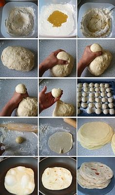 Homemade flour tortillas.