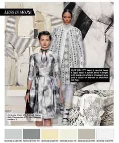 trend forecast for prints and color for Fall/Winter 2015-2016. #nordic #neutral