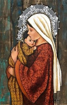 Jesus And Mary Pictures, Catholic Pictures, Mary And Jesus, Catholic Prayers, Catholic Art, Catholic Saints, Jesus Mother, Blessed Mother Mary, Religious Images
